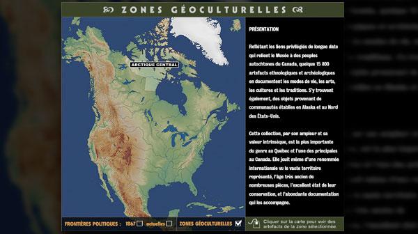 Carte interactive de recherche des collections